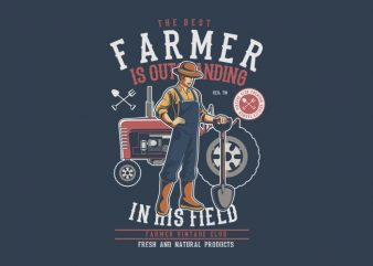 Farmer t shirt graphic design