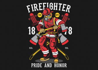 Firefighter t shirt graphic design