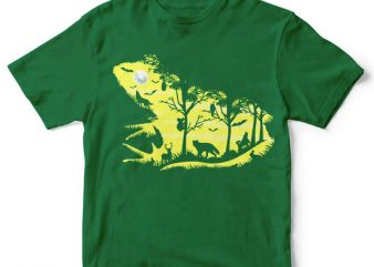 Froggy Night Graphic tee design buy t shirt design