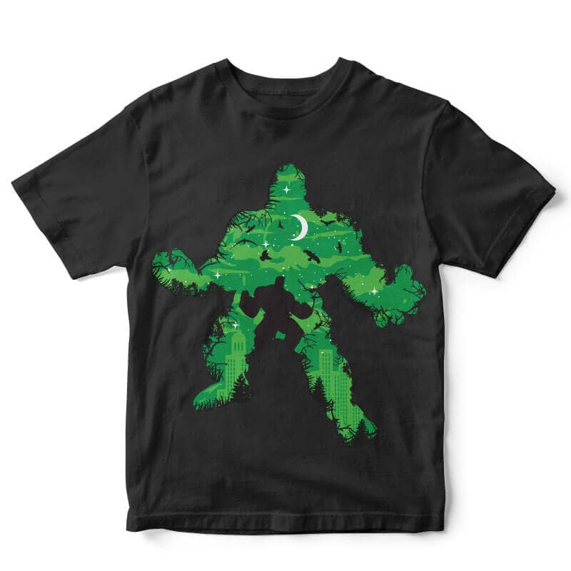 Green Monster Vector t-shirt design buy t shirt design