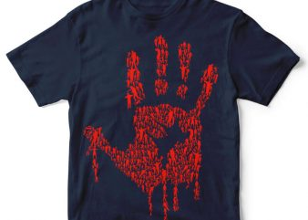 Hand Of Zombies tshirt design t shirt template