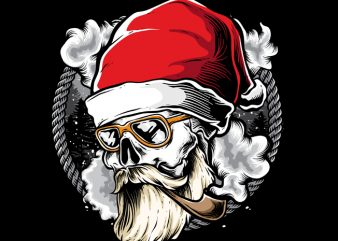 Hipster Santa buy t shirt design