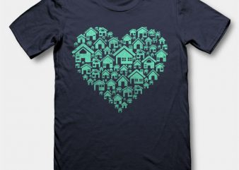 Home Heart tshirt design