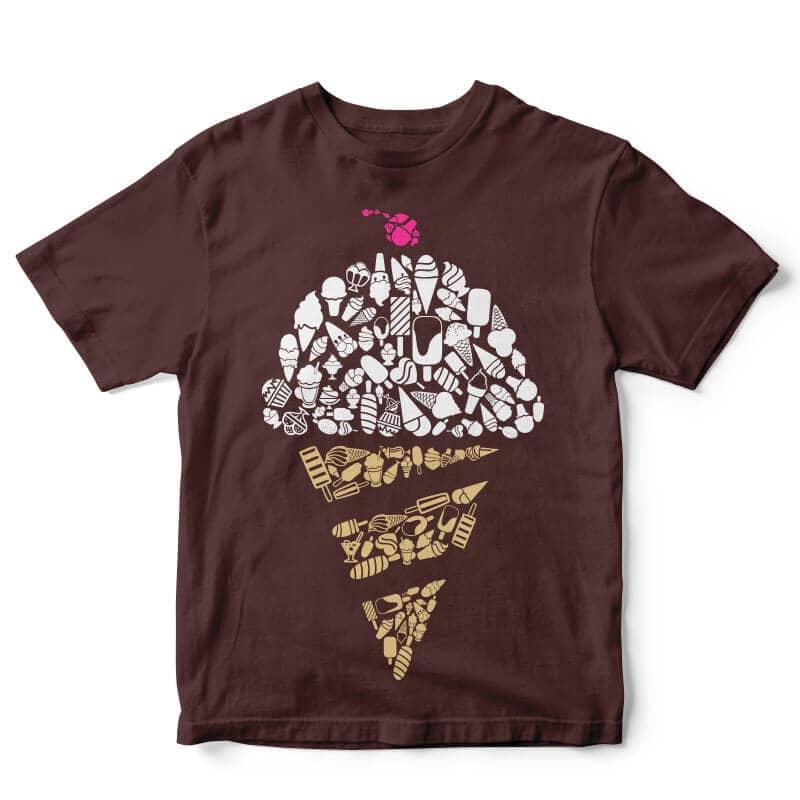 Ice Cream tshirt design buy t shirt design