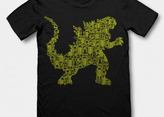 Kaiju 2 tshirt design buy t shirt design