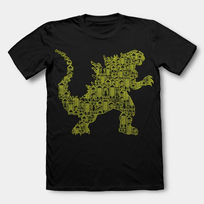 Kaiju 2 tshirt design buy t shirt design