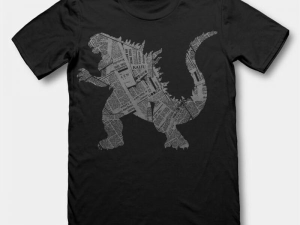 Kaiju tshirt design buy t shirt design