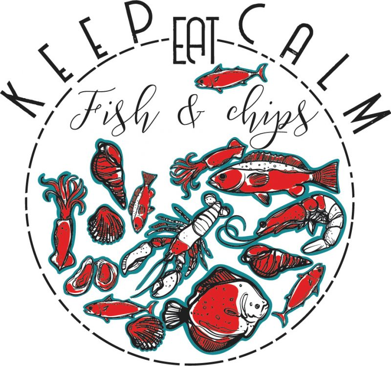 Keep calm eat fish and chips buy t shirt design