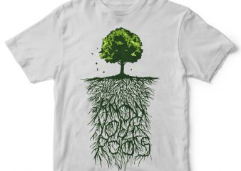 Know Your Roots tshirt design buy t shirt design