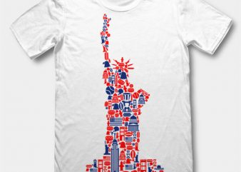 Liberty t-shirt design template buy t shirt design