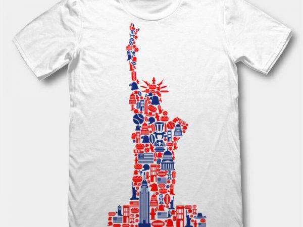 Liberty t-shirt design template buy t shirt design