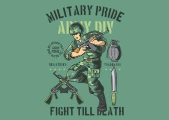 Military Pride buy t shirt design