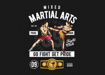 Mixed Martial Arts t shirt designs for sale