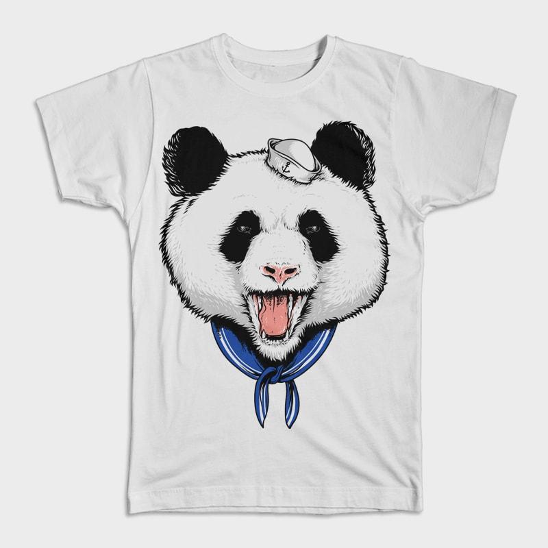 Panda Sailor buy t shirt design