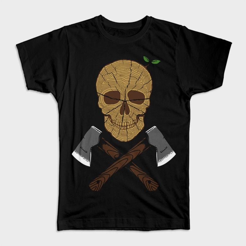 Skull Wood buy t shirt design