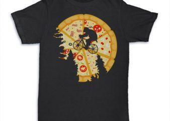 Pizza Moon Graphic tee design buy t shirt design