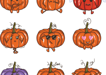 Pumpkin emoji t shirt illustration