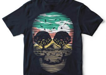 Skull Nature t-shirt design buy t shirt design