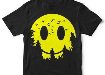 Smiley Moon t-shirt design buy t shirt design