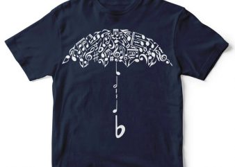 Sound Of Rain t-shirt design t shirt template