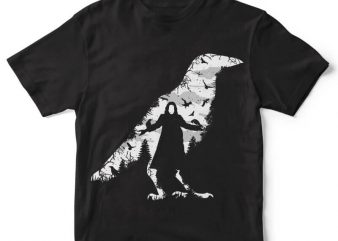 The Crow t-shirt design buy t shirt design