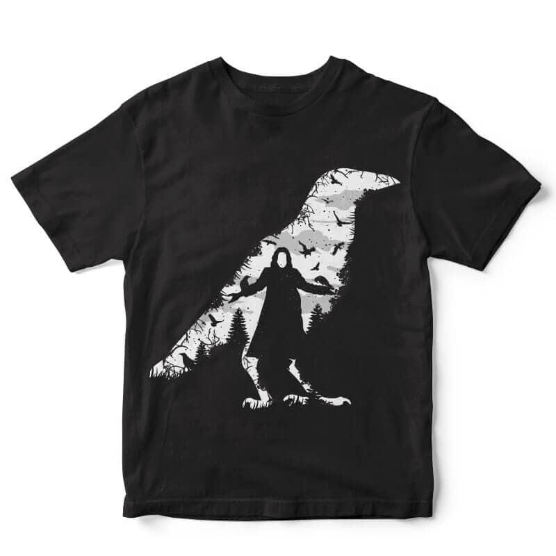 The Crow t-shirt design buy t shirt design