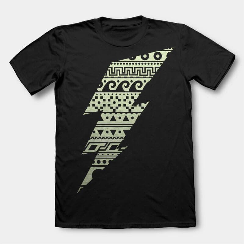 Thunderbolt t-shirt design buy t shirt design