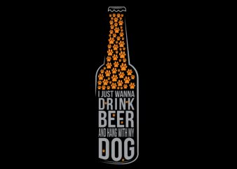 Beer Dog t shirt vector