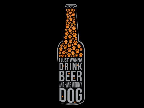 Beer Dog buy t shirt design