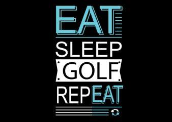 golf t shirt design template