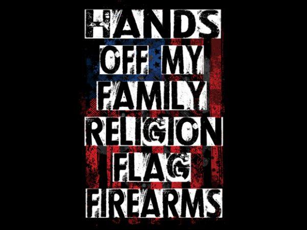 American Flag t shirt vector