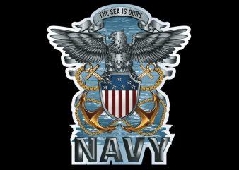 navy t shirt vector artwork