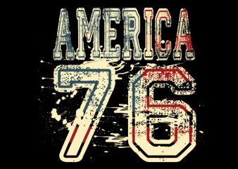 America 76 buy t shirt design