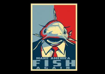Make America fish again shirt design buy t shirt design