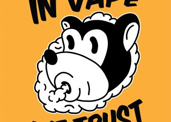 In vape we trust. Vector t-shirt design