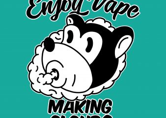 Enjoy vape. Vector t-shirt design