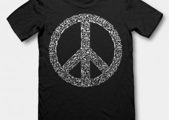 War Peace Vector t-shirt design buy t shirt design