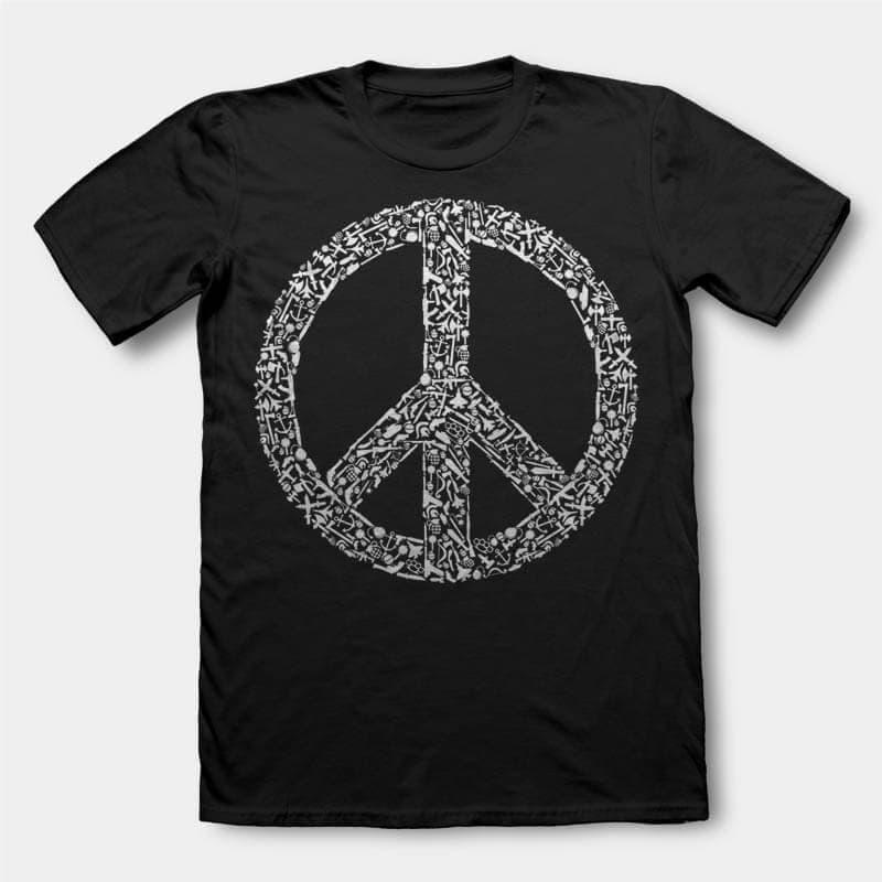 War Peace Vector t-shirt design buy t shirt design