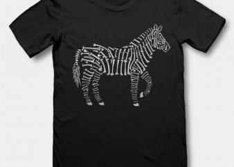 Zebra Bones t-shirt design