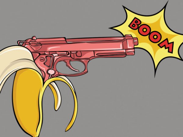 Banana gun buy t shirt design