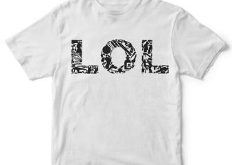 LOL vector t-shirt design
