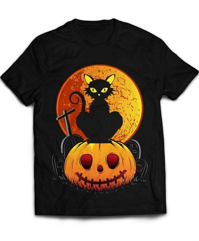 Black Cat buy t shirt design