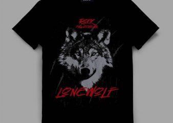 Wolf Fightwear t-shirt design