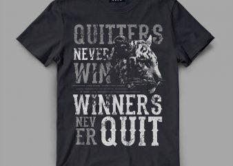 Tiger Quitter Vector t-shirt design buy t shirt design