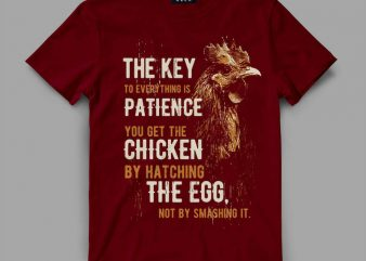 Chicken patience Vector t-shirt design buy t shirt design