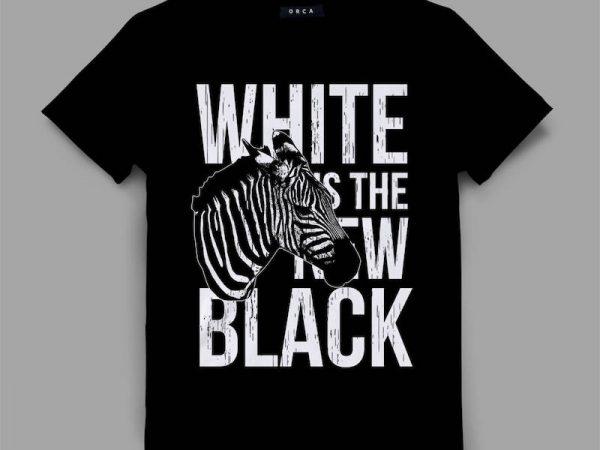 Zebra Graphic tee design