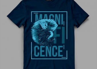 Fish Magnif Vector t-shirt design buy t shirt design