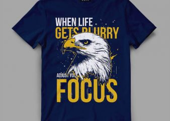 Eagle focus T-shirt design buy t shirt design