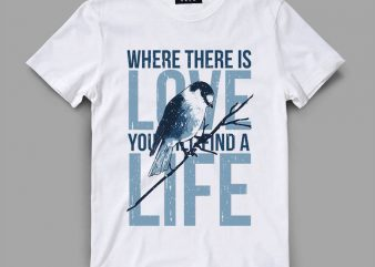 Bird 2 love Vector t-shirt design