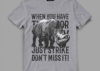 Rhino Strike t shirt design buy t shirt design